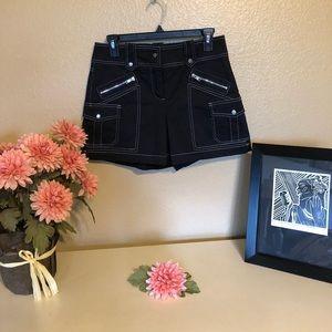 Cache Black Skirt Shorts Golf Skort sz 2